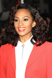 Alesha Dixon topped off her look with a side-parted curly 'do on 'Britain's Got Talent.'