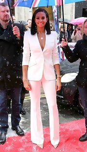 Alesha Dixon made a simple white pantsuit look so fierce on 'Britain's Got Talent.'