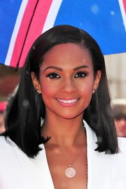 Alesha Dixon polished off her look with a super neat straight 'do on 'Britain's Got Talent.'