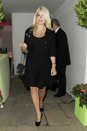 Holly Willoughby opted for an all-black look when she sported this LBD with a full circle skirt.