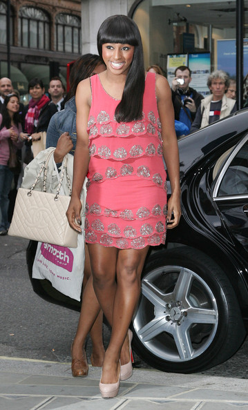 Alexandra Burke Beaded Dress