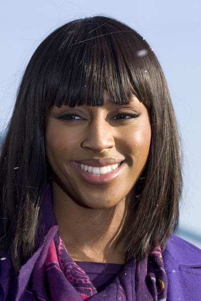 Alexandra Burke Medium Straight Cut with Bangs