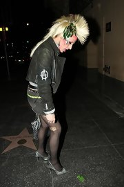 Alexis Arquette sported an edgy mohawk hairdo while out and about in Los Angeles.