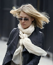 Ali Larter knotted this white gauzy scarf around her neck for an outing in Hollywood.