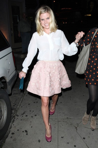 Alice Eve Mini Skirt