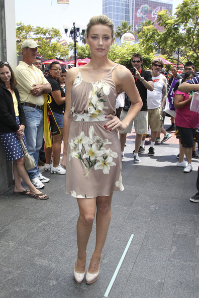 Amber Heard Day Dress