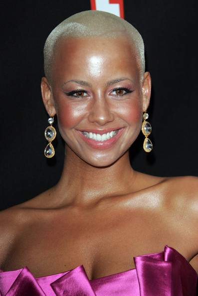 Amber Rose Dangling Spheres