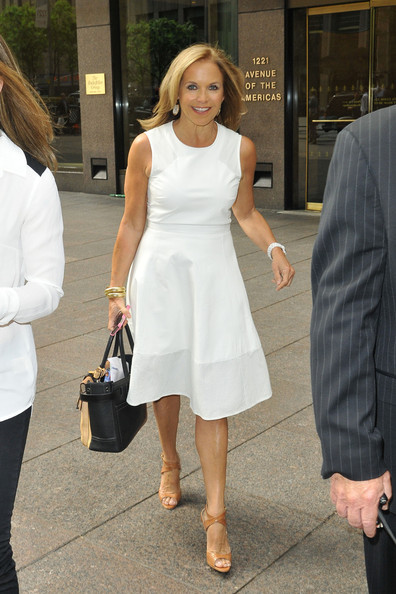 More Pics of Katie Couric Day Dress (1 of 7) - Katie Couric Lookbook - StyleBistro