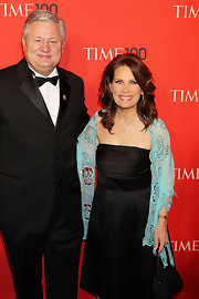 Michele Bachmann carried a black beaded bag to the 'Time' 100 gala.