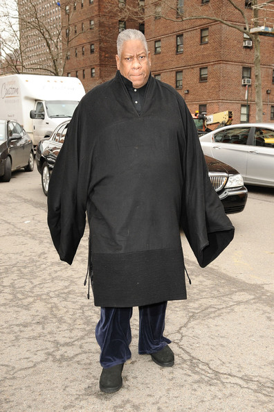 Andre Leon Talley at Fashion Week in NYC