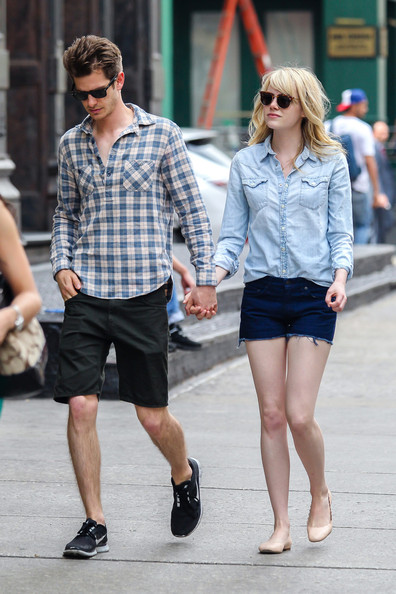 More Pics of Emma Stone Denim Shirt (2 of 10) - Emma Stone Lookbook - StyleBistro