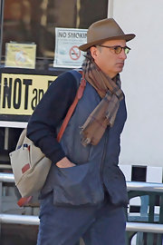 Andy Garcia sported a blue vest while out grabbing breakfast in LA.