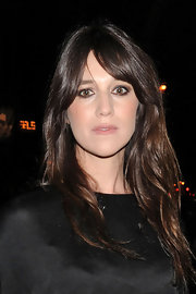 Charlotte Gainsbourg wore her glossy hair in loose natural waves for a night out in NYC.