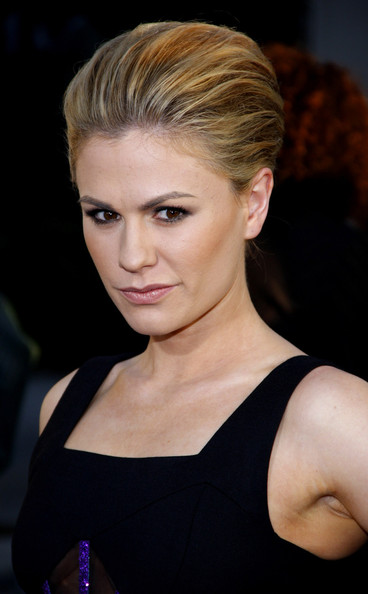 Anna wore her hair back in a sleek voluminous updo to give her look a dramatic touch for the premiere of 'True Blood.'
