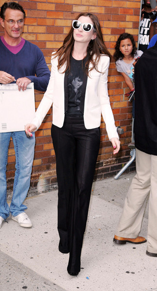 More Pics of Anne Hathaway Blazer (1 of 8) - Anne Hathaway Lookbook - StyleBistro