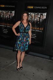 Ashley Williams was spotted at the 'Margin Call' premiere wearing a summery print dress.
