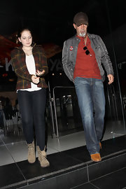 Stella del Carmen rocked a pair of black skinnies on a night out with his dad, Antonio Banderas.