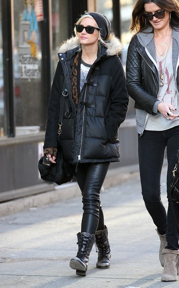 More Pics of Ashlee Simpson Combat Boots (6 of 8) - Combat Boots Lookbook - StyleBistro
