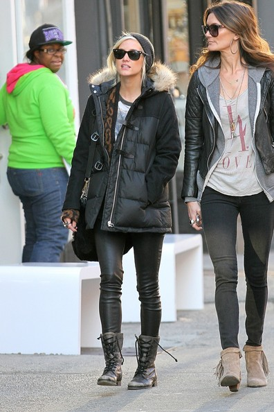 More Pics of Ashlee Simpson Combat Boots (1 of 8) - Boots Lookbook - StyleBistro