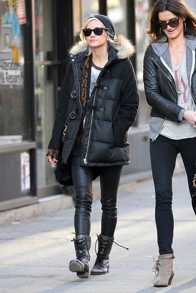 More Pics of Ashlee Simpson Combat Boots (3 of 8) - Ashlee Simpson Lookbook - StyleBistro
