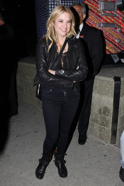 Ashley Benson Motorcycle Boots