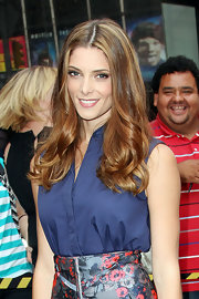Ashley Greene's shiny tresses had recently been lightened to create this sun-kissed glow.