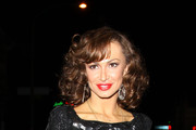 Karina Smirnoff Wears A Sequined Blouse To Party