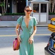 Miranda Kerr's Mint Wrap Dress