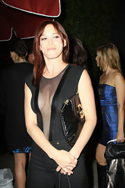 Jessica Sutta attended the 11th anniversary party of Nylon Magazine wearing a revealing top.