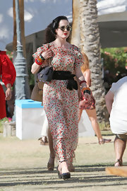 75aab02e3242 Dita Von Teese looked oh-so-summery at Coachella in this cherry print dress