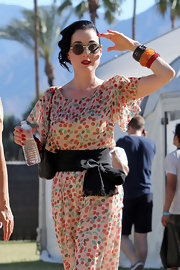 Gotta' love the mint-tinted shades Dita wore to Coachella.