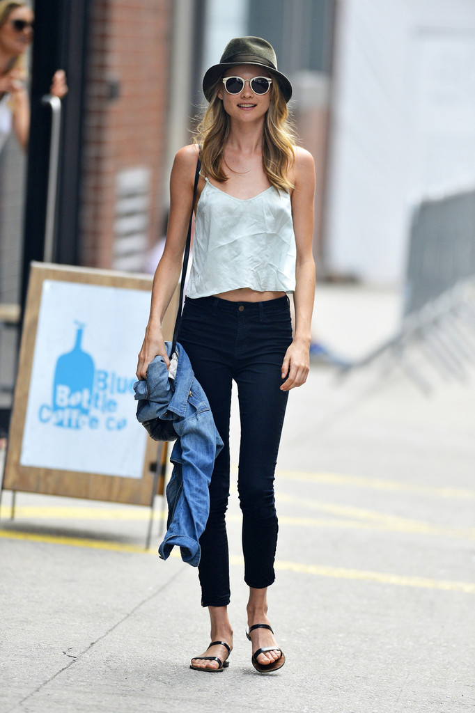 Behati Prinsloo Is All About Peace in NYC