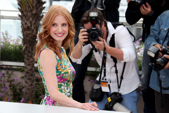 More Pics of Jessica Chastain Long Wavy Cut (1 of 6) - Jessica Chastain Lookbook - StyleBistro