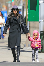 Bethenny Frankel stuck to a springtime staple when she sported this double-breasted wool coat.