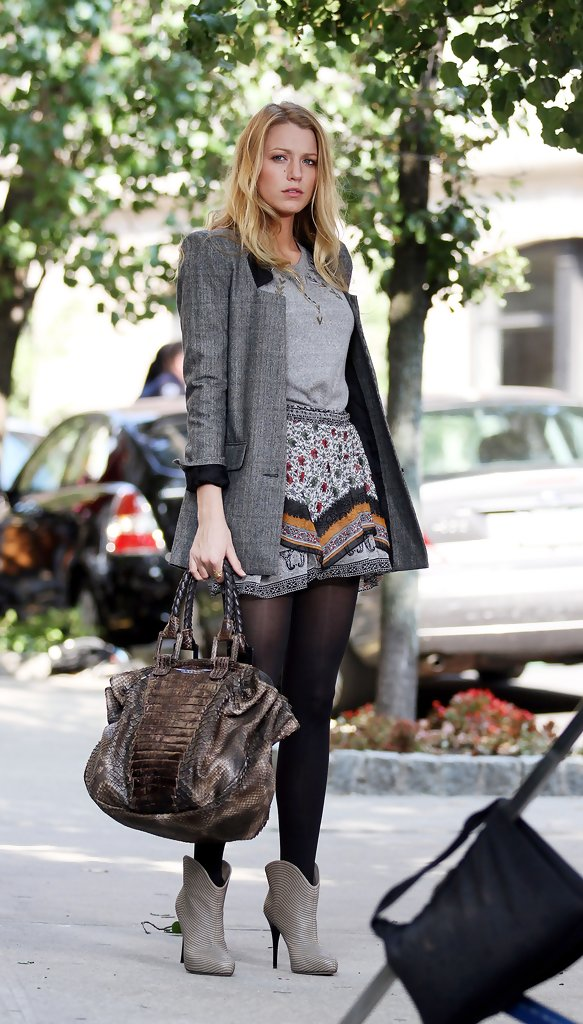 Blake Lively Ankle Boots Blake Lively Shoes Looks Stylebistro