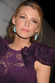 Blake Lively went for a soft and natural look in subtle pink lipgloss.