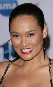Tia Carrere pulled her hair back in a Croydon facelift for the Night of 100 Stars party.