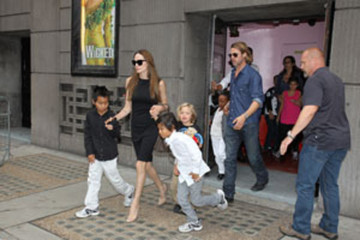 Brad Pitt Zahara Jolie Pitt Angelina Jolie and Brad Pitt Take Their Kids to 'Wicked' in London