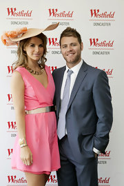 Vogue Williams showed up in her Sunday best—a carnation number with a flattering neckline—at the Westfield Doncaster Styling Suite.