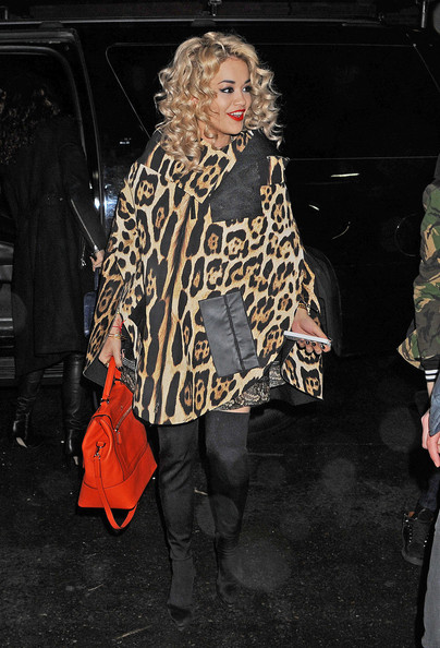 More Pics of Rita Ora Cape (1 of 7) - Rita Ora Lookbook - StyleBistro