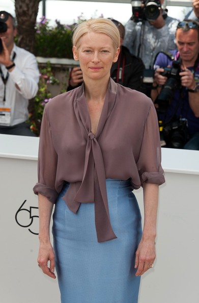 More Pics of Tilda Swinton Button Down Shirt (2 of 4) - Tilda Swinton Lookbook - StyleBistro