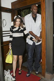 Lamar Odom rocked a pair of Gucci basketball sneakers while out on a dinner date with his wife.