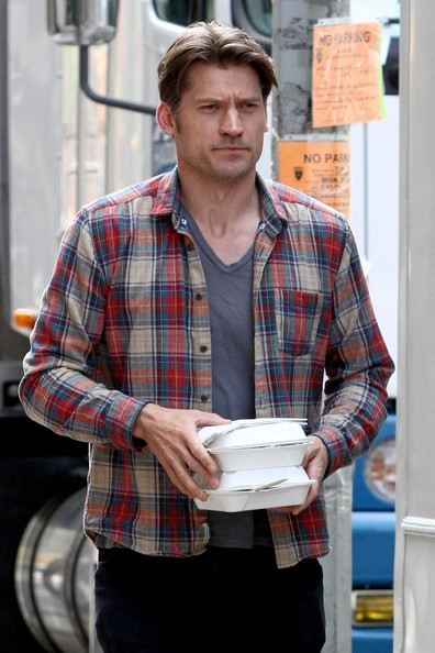 More Pics of Nikolaj Coster-Waldau Button Down Shirt (1 of 3) - Button Down Shirt Lookbook - StyleBistro