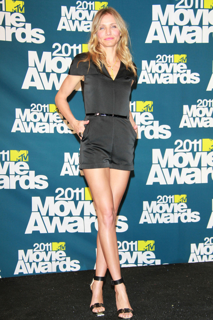 Cameron Diaz joins an all-star lineup at the 2011 MTV Movie Awards press call after the show in Studio City.