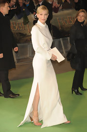 Cate Blanchett accessorized her gown with Givenchy's clear plastic and wood heels.