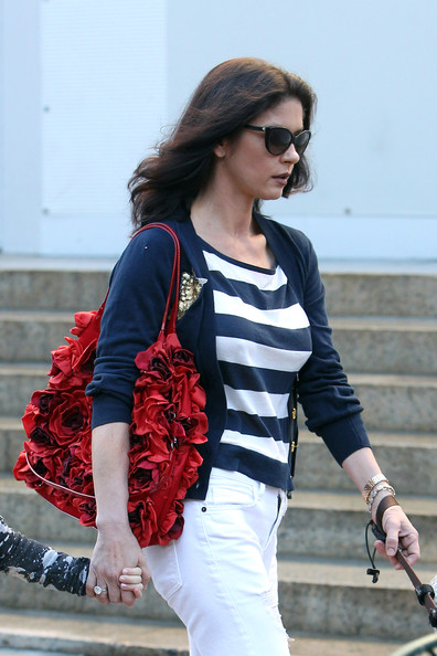 Catherine Zeta-Jones Leather Shoulder Bag