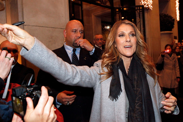 Celine Dion Greets Fans in Paris