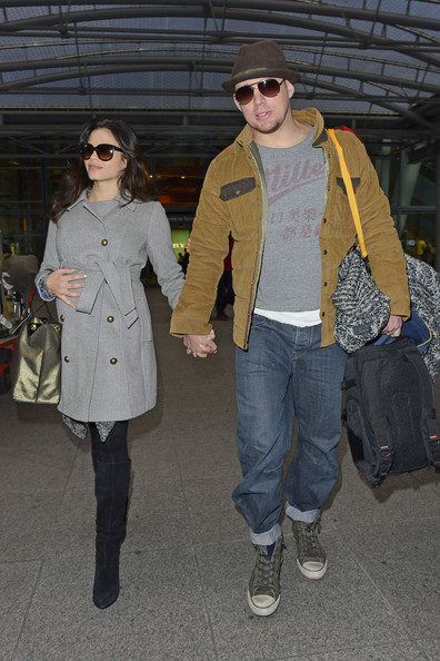 Channing Tatum and Jenna Dewan at Heathrow