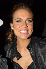 Natalie Coughlin was spotted at Boulevard 3 with her hair tied in a loose ponytail.