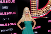 Christina Aguilera at the Los Angeles premiere of